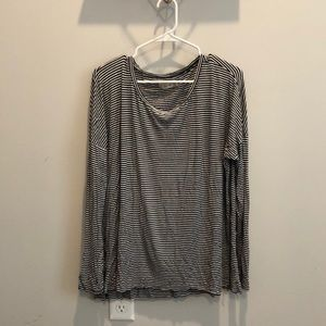 Black and white striped long sleeve.